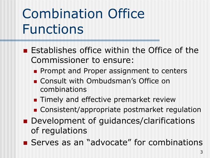 Combination office functions