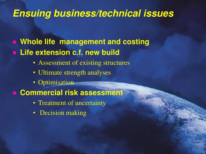Whole life  management and costing