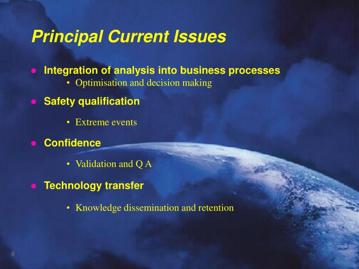 Integration of analysis into business processes