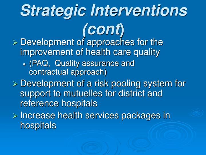 Strategic Interventions (cont