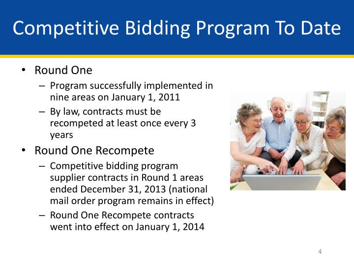 Competitive Bidding Program To Date