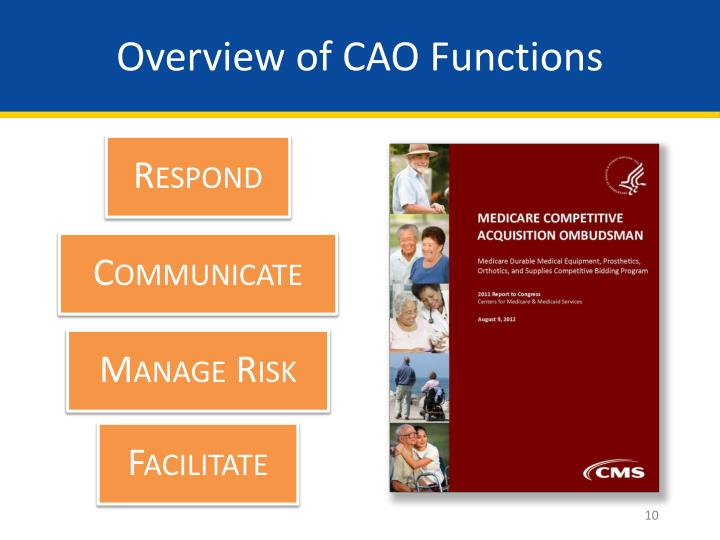 Overview of CAO Functions