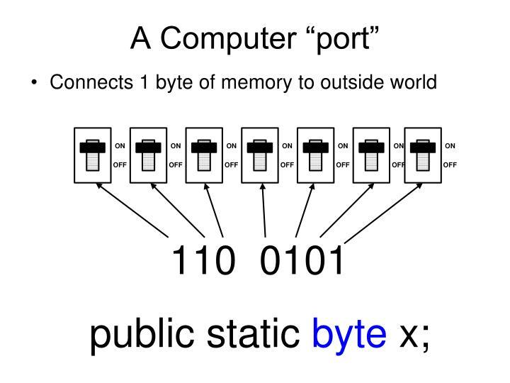 """A Computer """"port"""""""