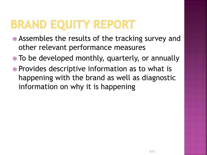 Brand Equity Report
