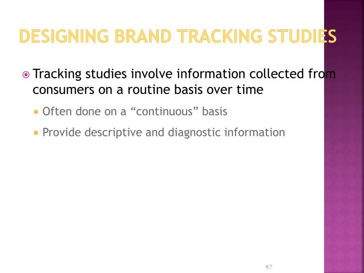 Designing Brand Tracking Studies