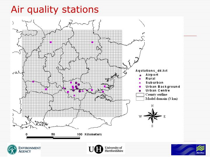 Air quality stations
