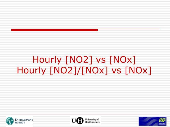 Hourly [NO2] vs [NOx]