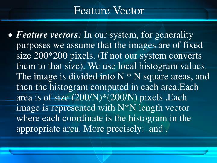 Feature Vector