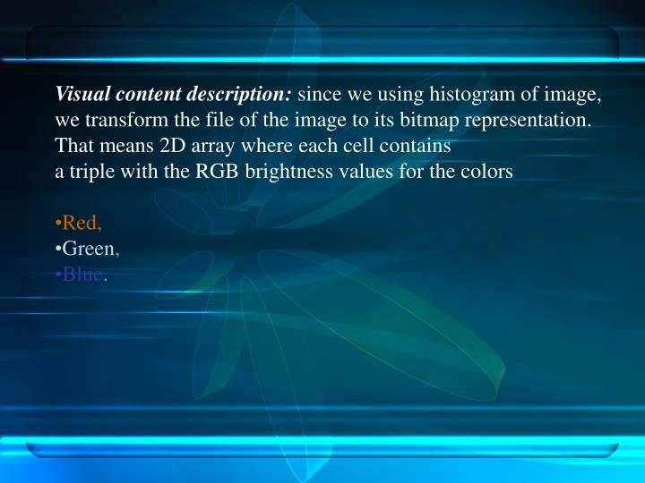 Visual content description: