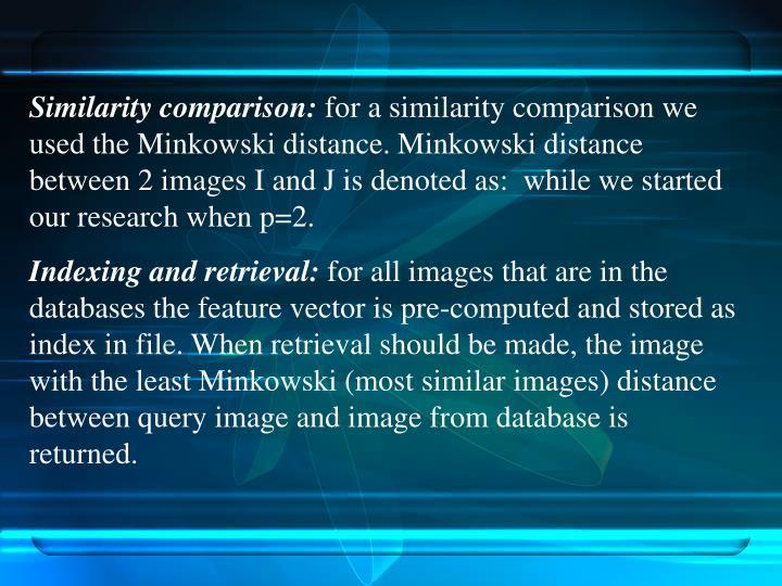 Similarity comparison: