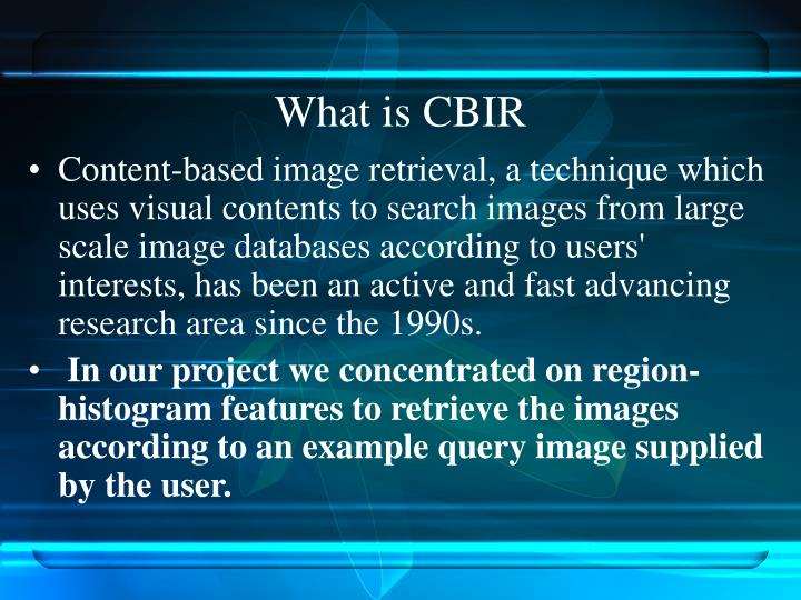 What is CBIR