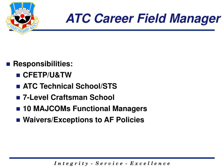 ATC Career Field Manager