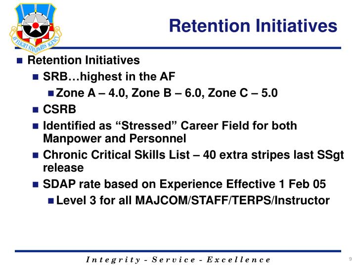 Retention Initiatives