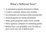 what s different now