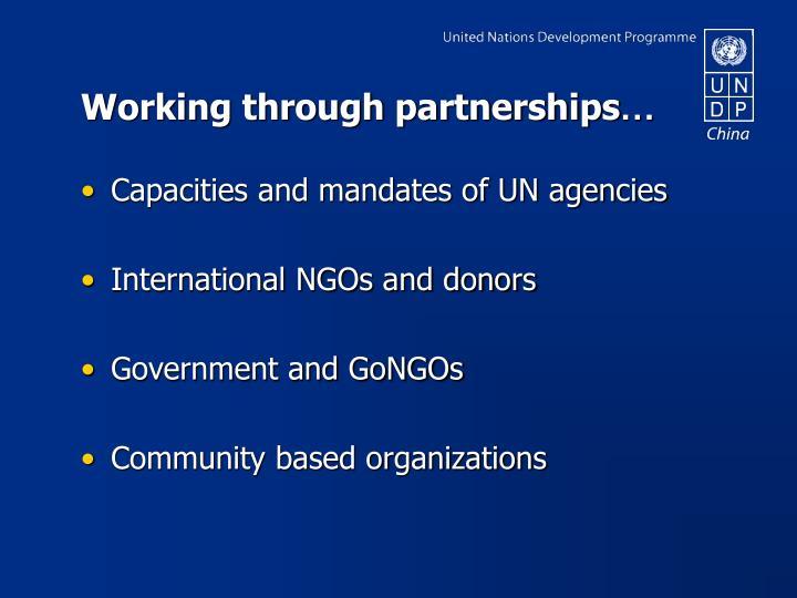 Working through partnerships