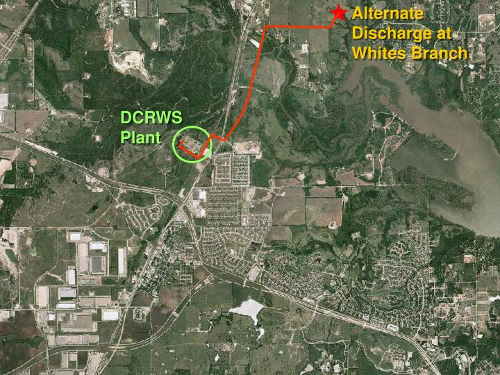 Alternate Discharge at Whites Branch
