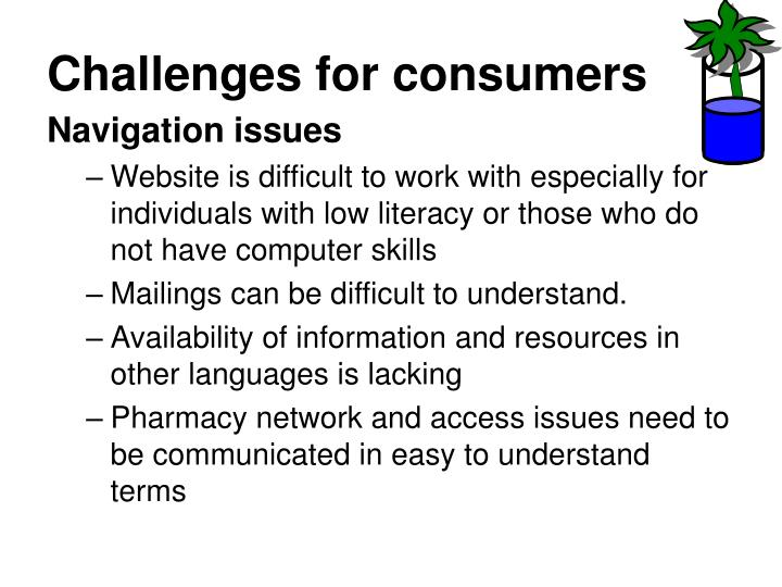 Challenges for consumers