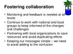 fostering collaboration1