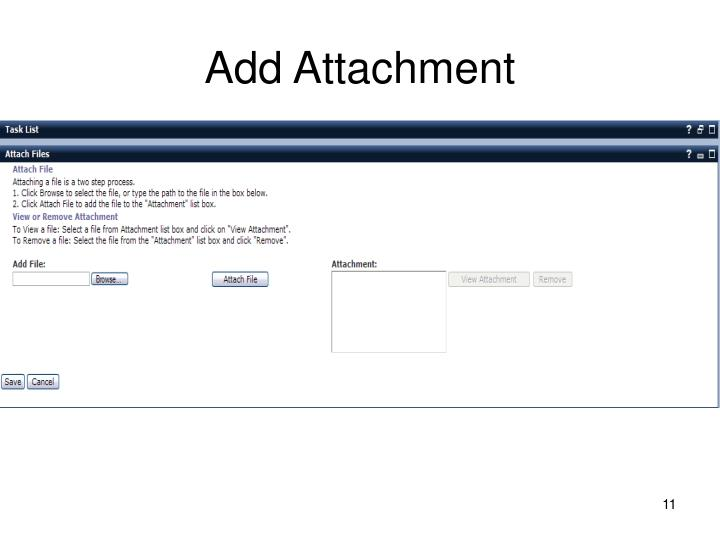 Add Attachment