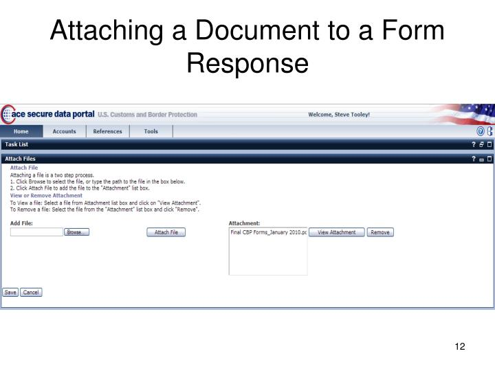 Attaching a Document to a Form Response