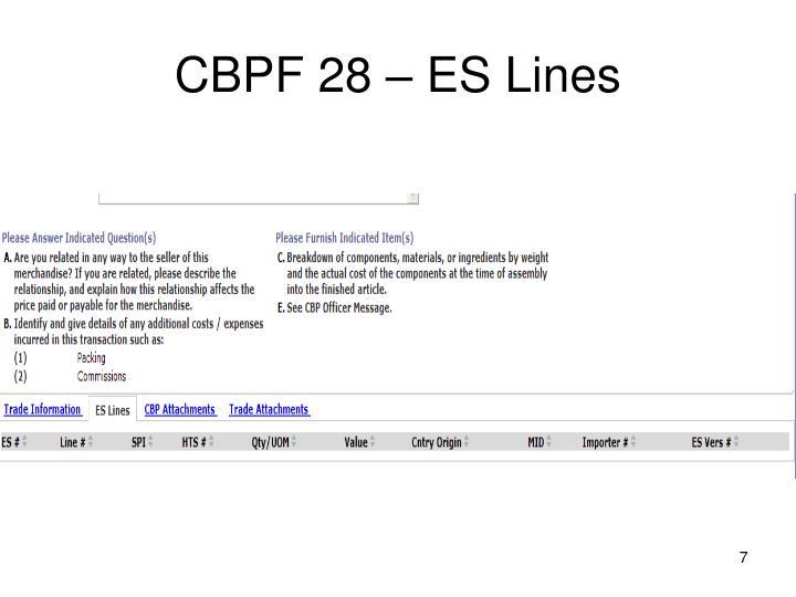 CBPF 28 – ES Lines