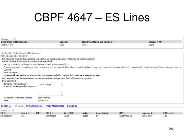 CBPF 4647 – ES Lines