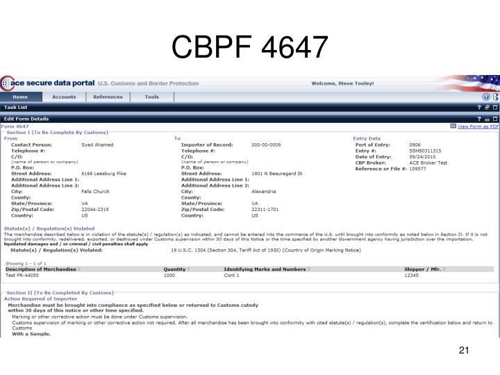 CBPF 4647