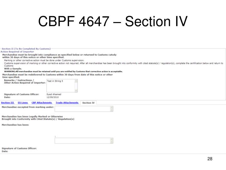 CBPF 4647 – Section IV