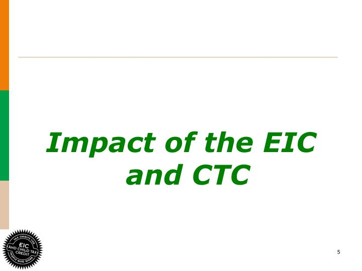 Impact of the EIC and CTC