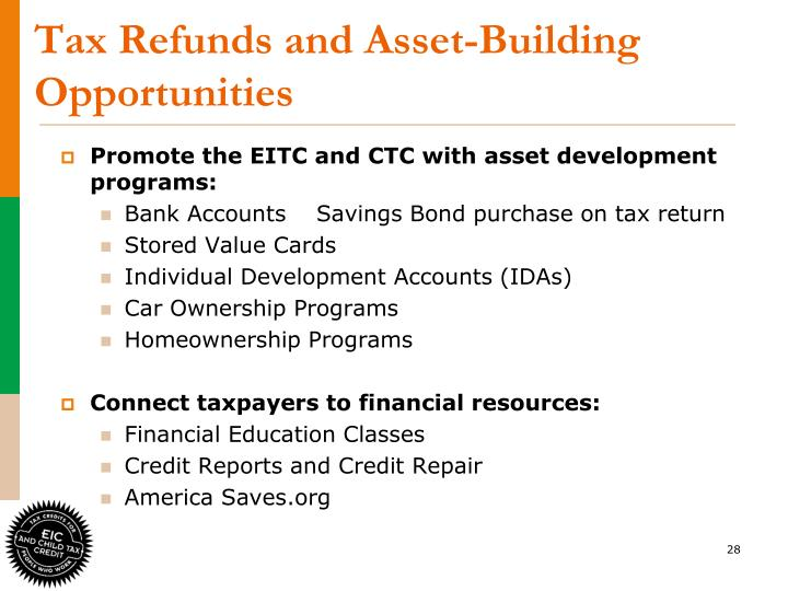 Tax Refunds and Asset-Building Opportunities