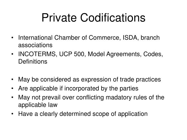 Private Codifications