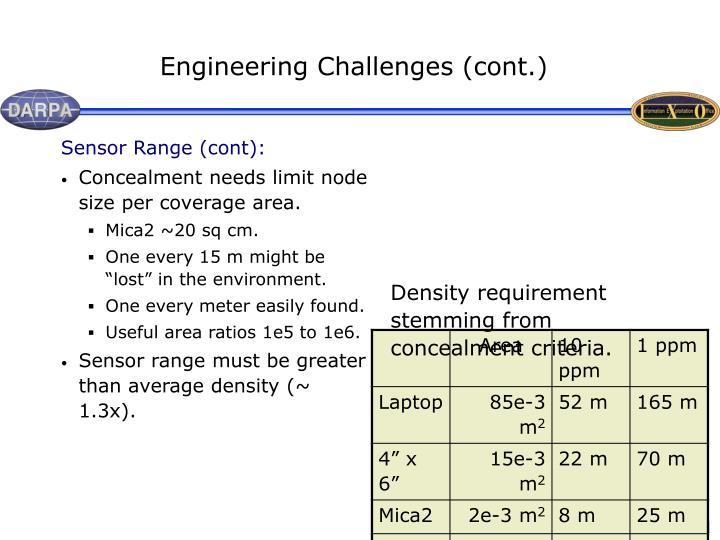 Sensor Range (cont):