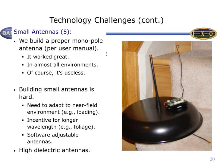Technology Challenges (cont.)