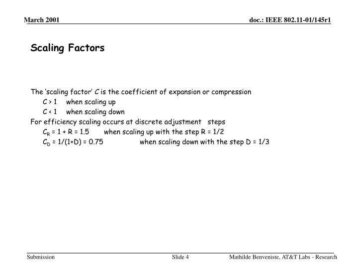 Scaling Factors
