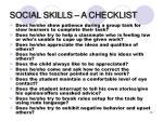 social skills a checklist