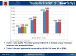 tourism statistics quarterly