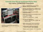 estimate real world unshielded noise rate from italian cormorad experiment