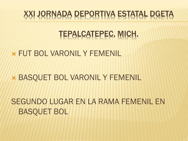 FUT BOL VARONIL Y FEMENIL