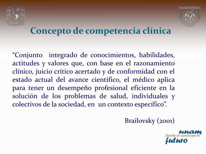 Concepto de competencia clínica