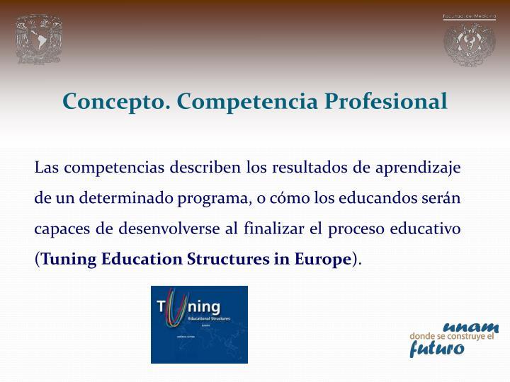Concepto. Competencia Profesional