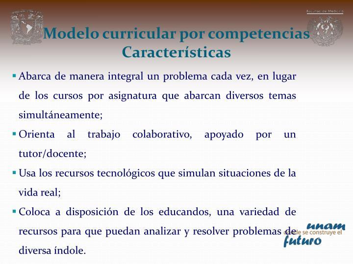 Modelo curricular por competencias