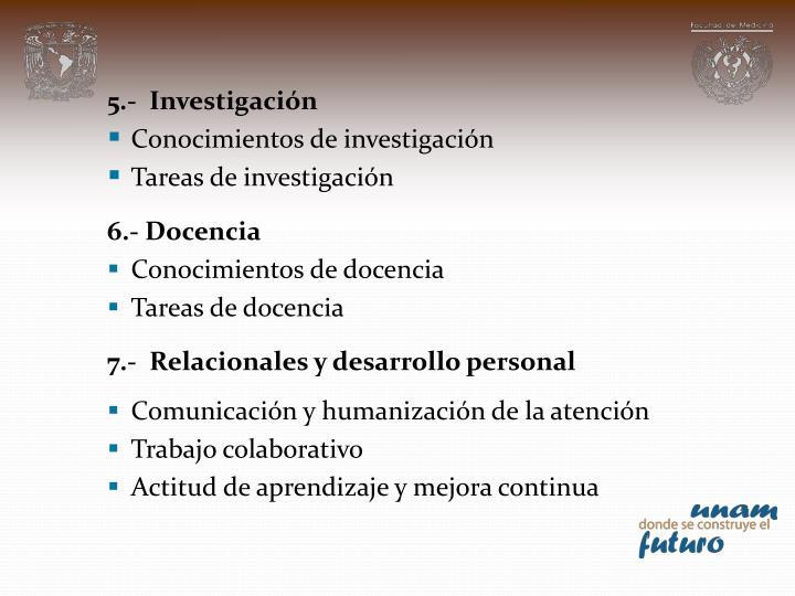 5.-  Investigación