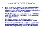 09 10 initiatives for goal 1