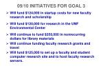 09 10 initiatives for goal 3