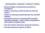divisional budget reductions4