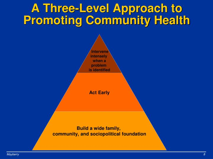 A Three-Level Approach to Promoting Community Health