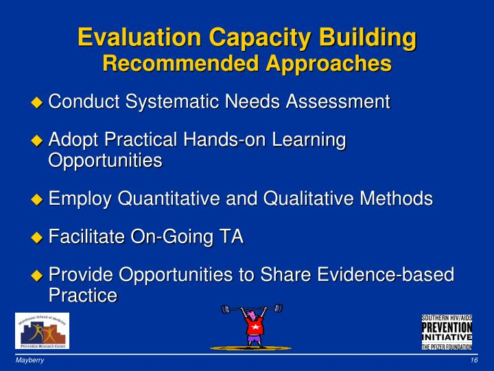 Evaluation Capacity Building