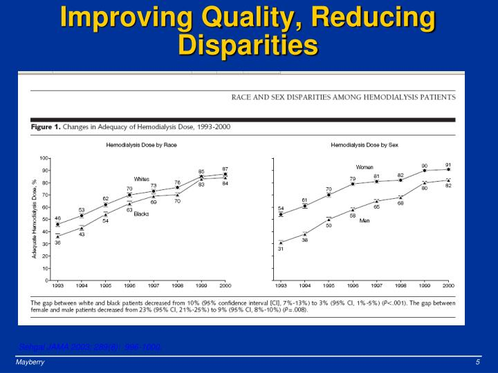 Improving Quality, Reducing Disparities
