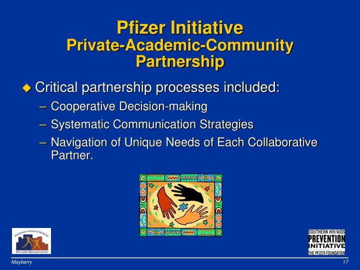 Pfizer Initiative