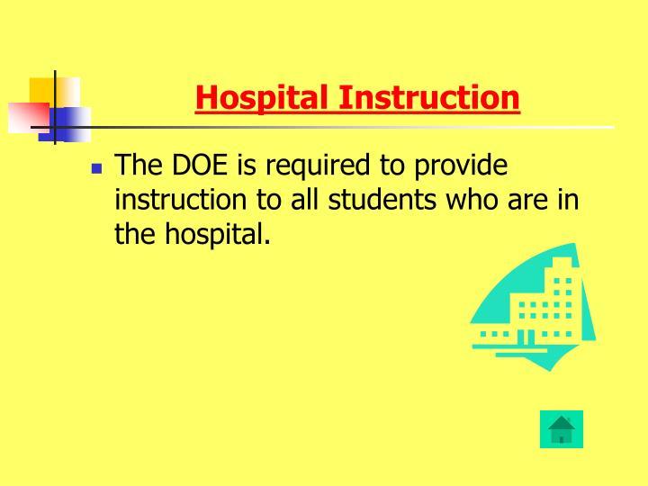 Hospital Instruction